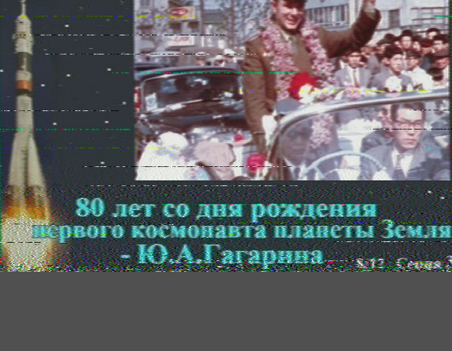 Parade for Yuri Gagarin, in memory of Yuri Gagarin, image 8 of the RS0ISS series
